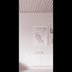 Декоративная рейка на потолок Сосна дымчатая