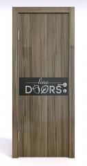 ШИ дверь DO-609 Сосна глянец/стекло Черное