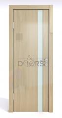 Дверь межкомнатная DO-507 Анегри светлый/стекло Белое