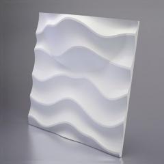 Гипсовая 3D панель SANDY 2 LED (White) 600x600x80 мм