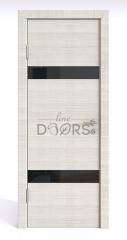 ШИ дверь DO-602 Ива светлая/стекло Черное