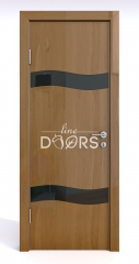 Дверь межкомнатная DO-503 Анегри темный/стекло Черное