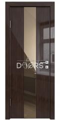ШИ дверь DO-610 Венге глянец/зеркало Бронза