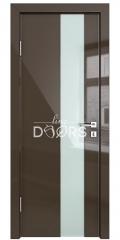 ШИ дверь DO-604 Шоколад глянец/стекло Белое
