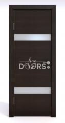 ШИ дверь DO-602 Венге горизонтальный/Снег