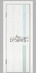 Дверь межкомнатная DO-507 Белый глубокий/стекло Белое
