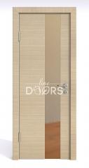 Дверь межкомнатная DO-504 Неаполь/зеркало Бронза