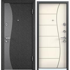 Дверь TOREX SUPER OMEGA 08 Черный шелк / Слоновая кость