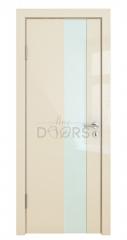 Дверь межкомнатная DO-504 Ваниль глянец/стекло Белое
