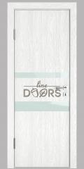 Дверь межкомнатная DO-512 Белый глубокий/стекло Белое