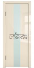 ШИ дверь DO-610 Ваниль глянец/стекло Белое