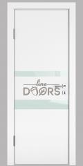 Дверь межкомнатная DO-512 Белый бархат/стекло Белое