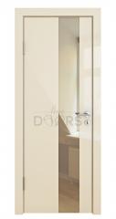 Дверь межкомнатная DO-504 Ваниль глянец/зеркало Бронза