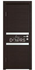 Дверь межкомнатная DO-513 Венге горизонтальный/Снег