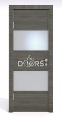 Дверь межкомнатная DO-508 Ольха темная/Снег