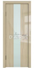 Дверь межкомнатная DO-510 Анегри светлый/стекло Белое