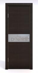 Дверь межкомнатная DO-509 Венге горизонтальный/Снег