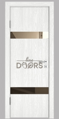Дверь межкомнатная DO-502 Белый глубокий/зеркало Бронза