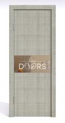 Дверь межкомнатная DO-501 Серый дуб/зеркало Бронза