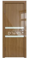 Дверь межкомнатная DO-513 Анегри темный/стекло Белое