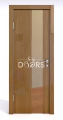 Дверь межкомнатная DO-504 Анегри темный/зеркало Бронза