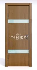 Дверь межкомнатная DO-502 Анегри темный/стекло Белое