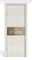 Дверь межкомнатная DO-501 Ива светлая/зеркало Бронза