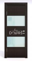 Дверь межкомнатная DO-508 Венге горизонтальный/стекло Белое
