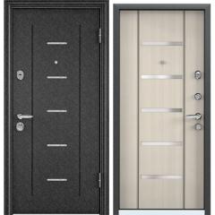 Дверь TOREX SUPER OMEGA 08 Черный шелк / Белый перламутр