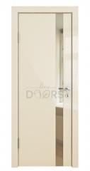 ШИ дверь DO-607 Ваниль глянец/зеркало Бронза