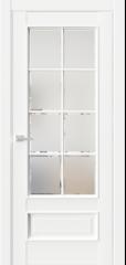 Межкомнатная дверь En9 фацет сатинат белый
