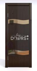 Дверь межкомнатная DO-503 Венге глянец/зеркало Бронза