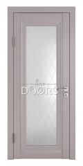 Дверь межкомнатная DO-PG6 Серый бархат/Ромб