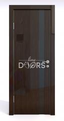Дверь межкомнатная DO-507 Венге глянец/стекло Черное