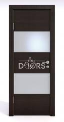 ШИ дверь DO-608 Венге горизонтальный/Снег