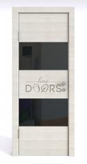 ШИ дверь DO-608 Ива светлая/стекло Черное