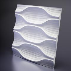 Гипсовая 3D панель Blade Platinum материал глянец 600x600 мм