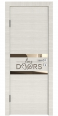 Дверь межкомнатная DO-513 Ива светлая/зеркало Бронза