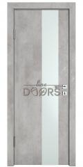 Дверь межкомнатная DO-504 Бетон светлый/Снег