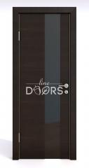 Дверь межкомнатная DO-504 Венге горизонтальный/стекло Черное