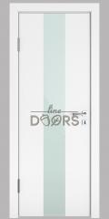 ШИ дверь DO-610 Белый бархат/стекло Белое