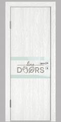 Дверь межкомнатная DO-513 Белый глубокий/стекло Белое