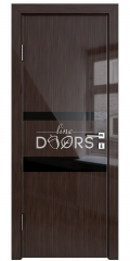 Дверь межкомнатная DO-512 Венге глянец/стекло Черное
