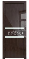 ШИ дверь DO-613 Венге глянец/стекло Белое