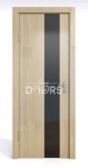 Дверь межкомнатная DO-504 Анегри светлый/стекло Черное