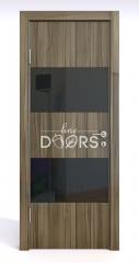 ШИ дверь DO-608 Сосна глянец/стекло Черное
