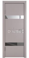 Дверь межкомнатная DO-502 Серый бархат/Зеркало