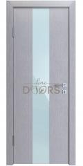 Дверь межкомнатная DO-510 Металлик/стекло Белое