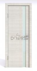 ШИ дверь DO-607 Ива светлая/стекло Белое