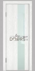 ШИ дверь DO-604 Белый глубокий/стекло Белое